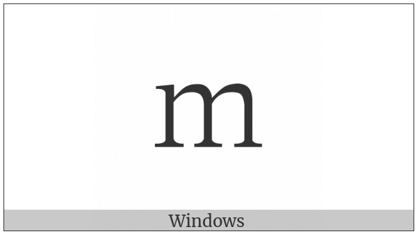 Fullwidth Latin Small Letter M on various operating systems