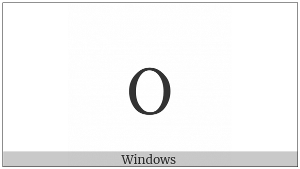 Fullwidth Latin Small Letter O on various operating systems