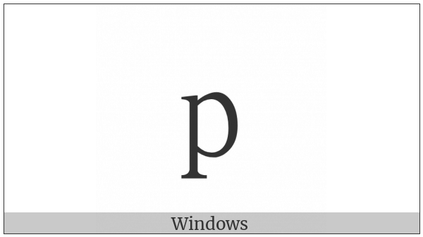 Fullwidth Latin Small Letter P on various operating systems