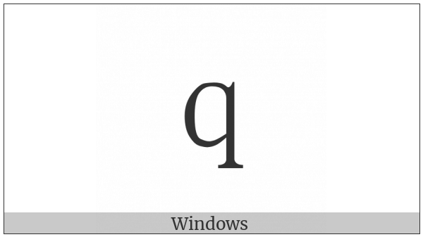 Fullwidth Latin Small Letter Q on various operating systems