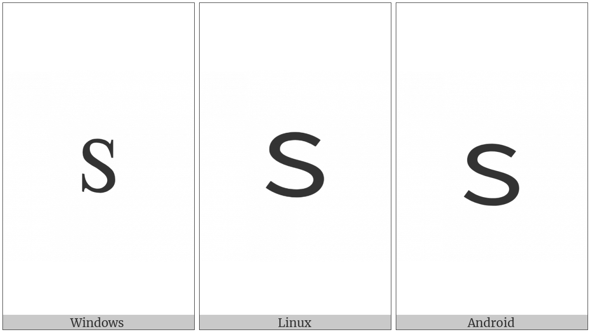 Fullwidth Latin Small Letter S on various operating systems