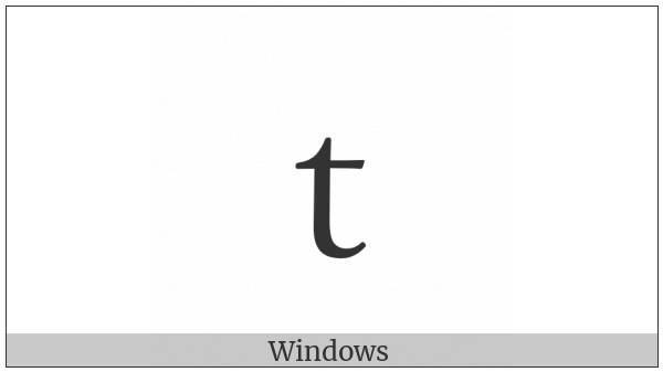 Fullwidth Latin Small Letter T on various operating systems