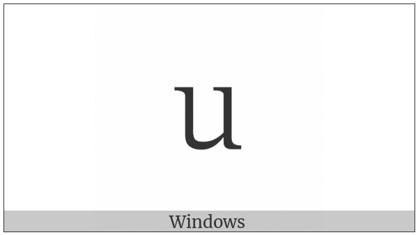 Fullwidth Latin Small Letter U on various operating systems