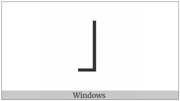 Halfwidth Right Corner Bracket on various operating systems