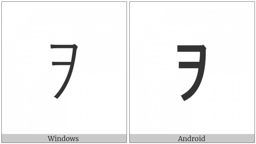 Halfwidth Katakana Letter Wo on various operating systems