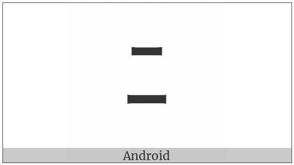 Halfwidth Katakana Letter Ni on various operating systems