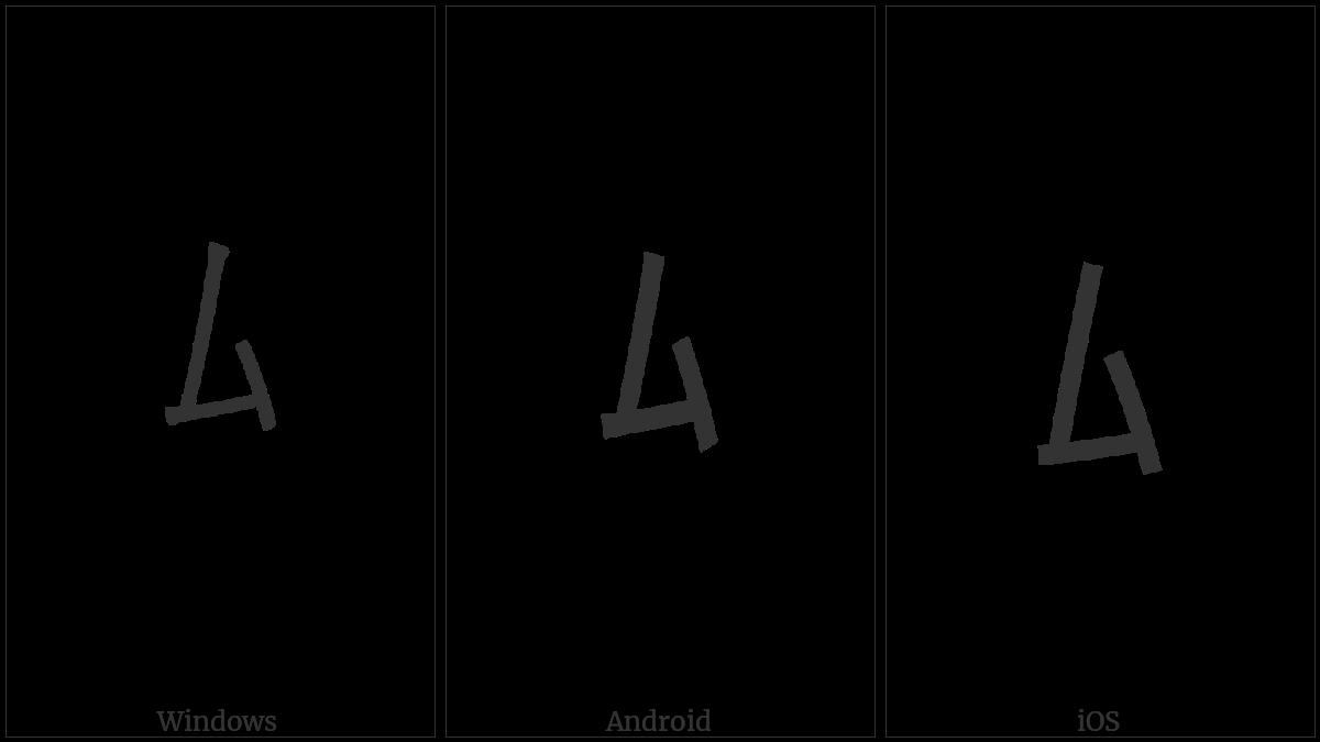 Halfwidth Katakana Letter Mu on various operating systems