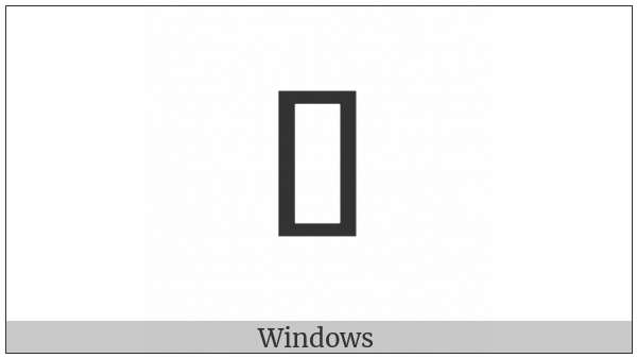 Halfwidth Katakana Letter Ro on various operating systems