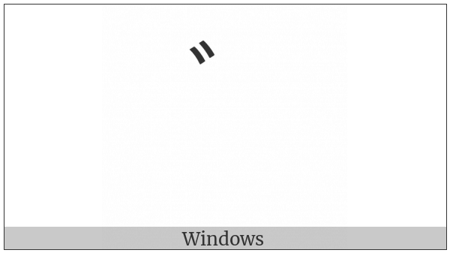 Halfwidth Katakana Voiced Sound Mark on various operating systems