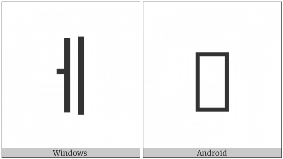 Halfwidth Hangul Letter E on various operating systems