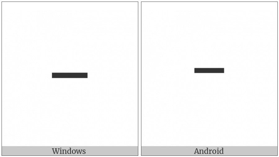 Halfwidth Hangul Letter Eu on various operating systems