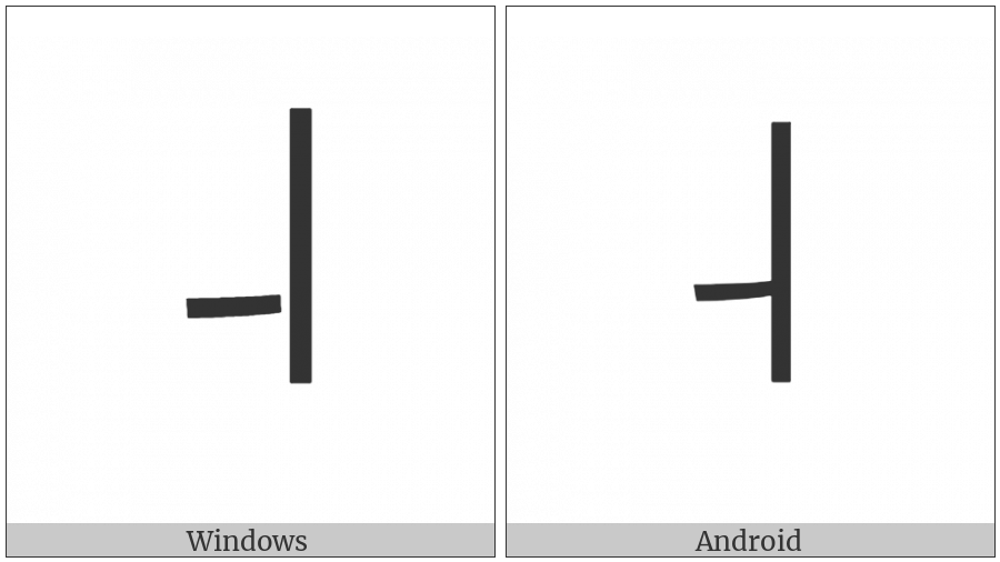Halfwidth Hangul Letter Yi on various operating systems