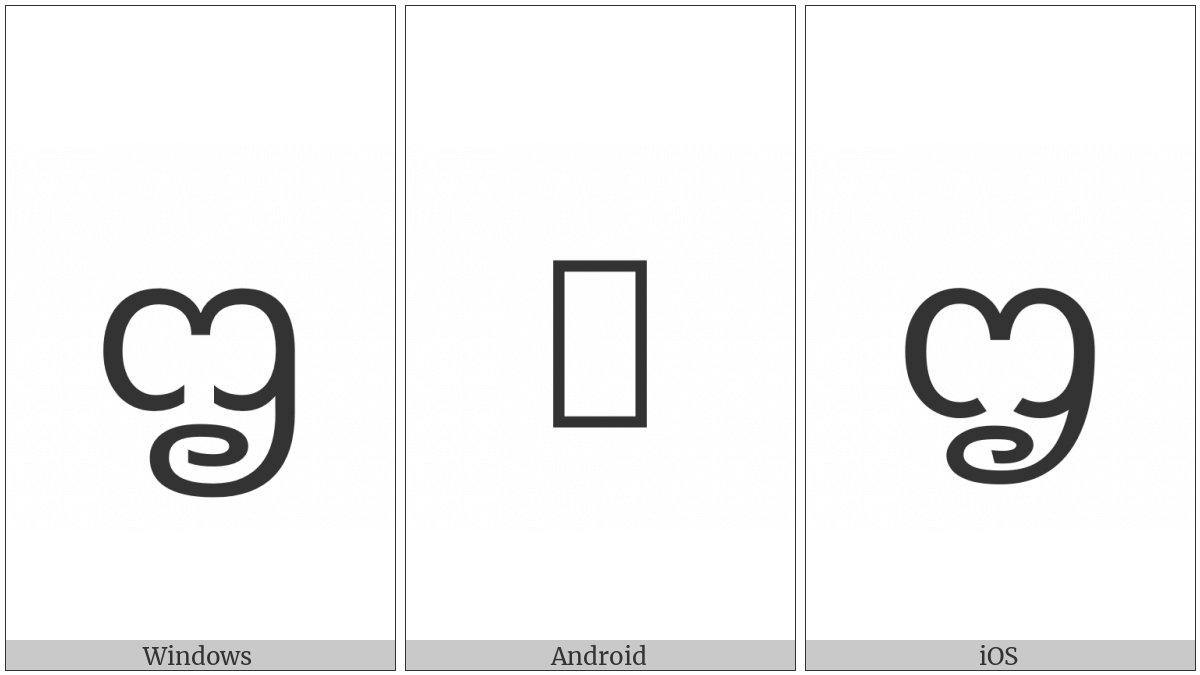 New Tai Lue Letter Low Pa on various operating systems