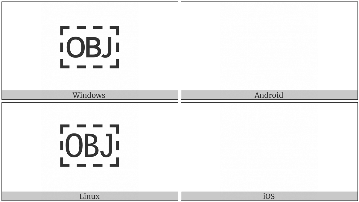 Object Replacement Character on various operating systems