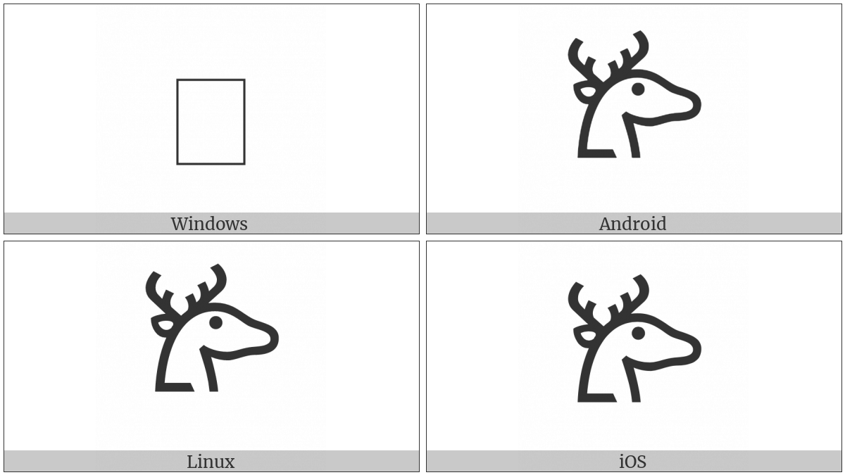 Linear B Ideogram B104 Deer on various operating systems