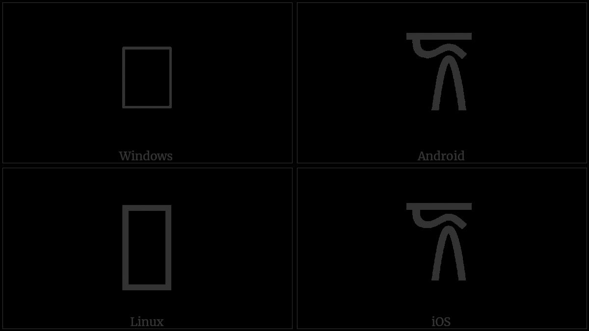 LINEAR B IDEOGRAM B106F EWE utf-8 character