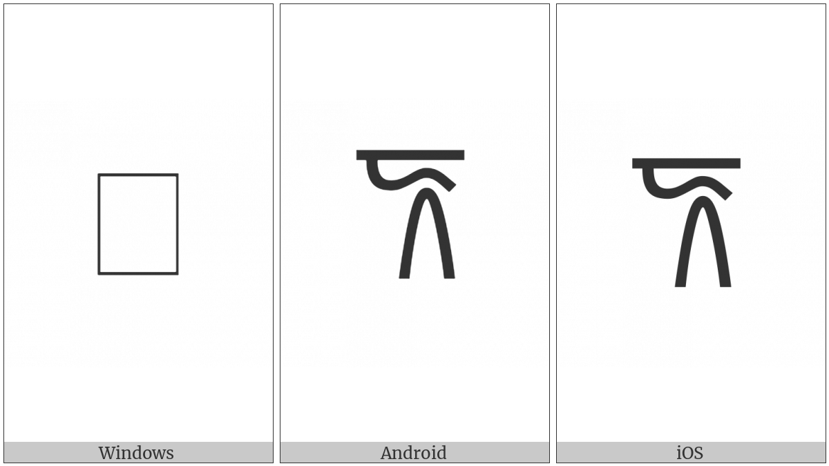 Linear B Ideogram B106F Ewe on various operating systems