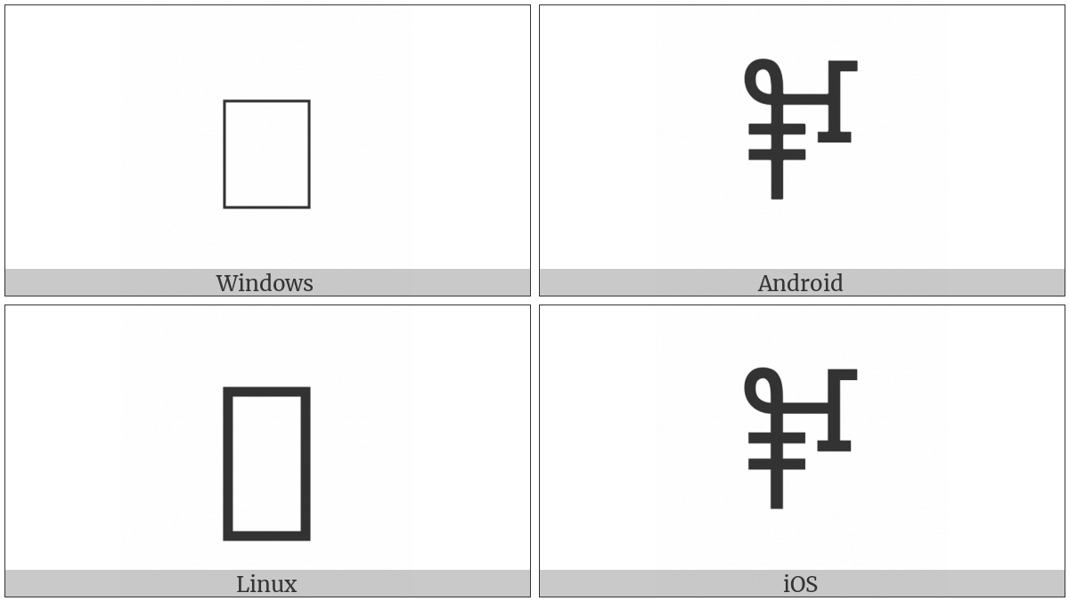 Linear B Ideogram B109M Bull on various operating systems