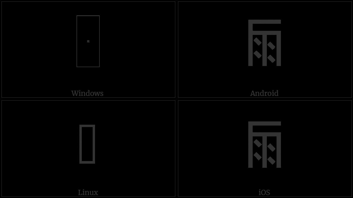 LINEAR B IDEOGRAM B131 WINE utf-8 character