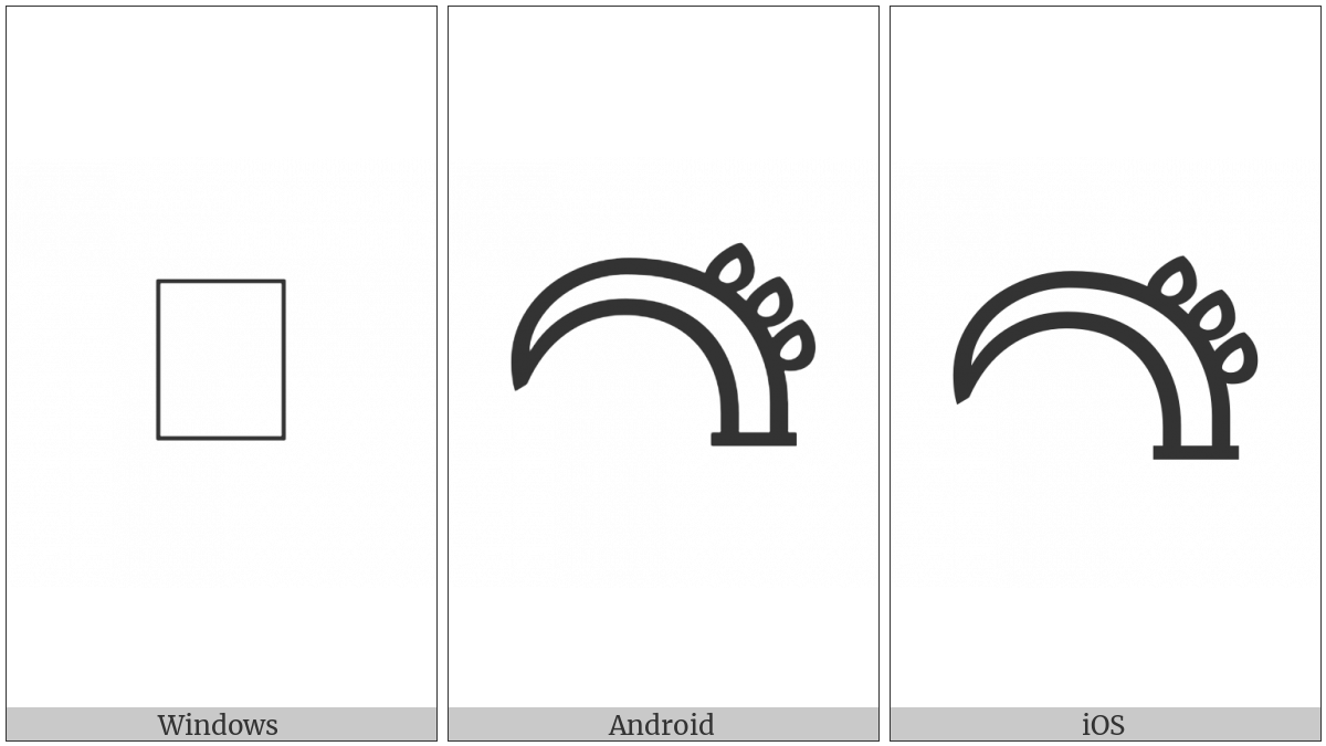 Linear B Ideogram B151 Horn on various operating systems