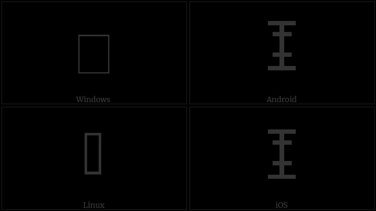 LINEAR B IDEOGRAM B171 utf-8 character