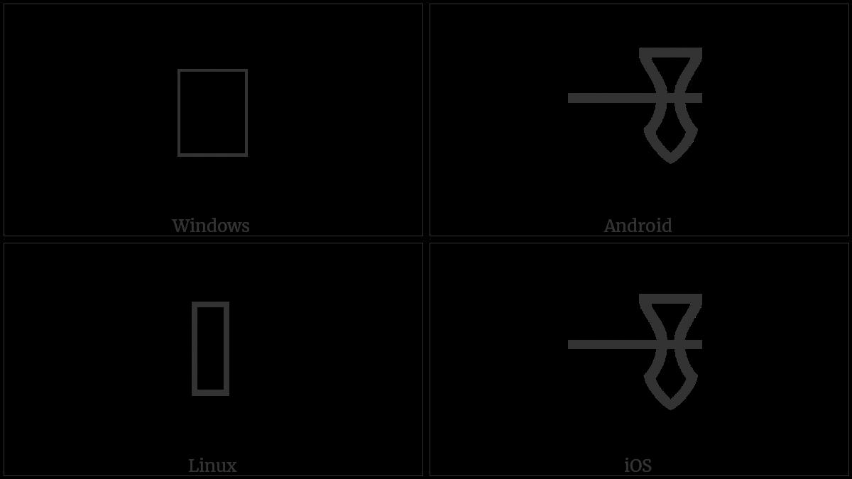 LINEAR B IDEOGRAM B232 utf-8 character
