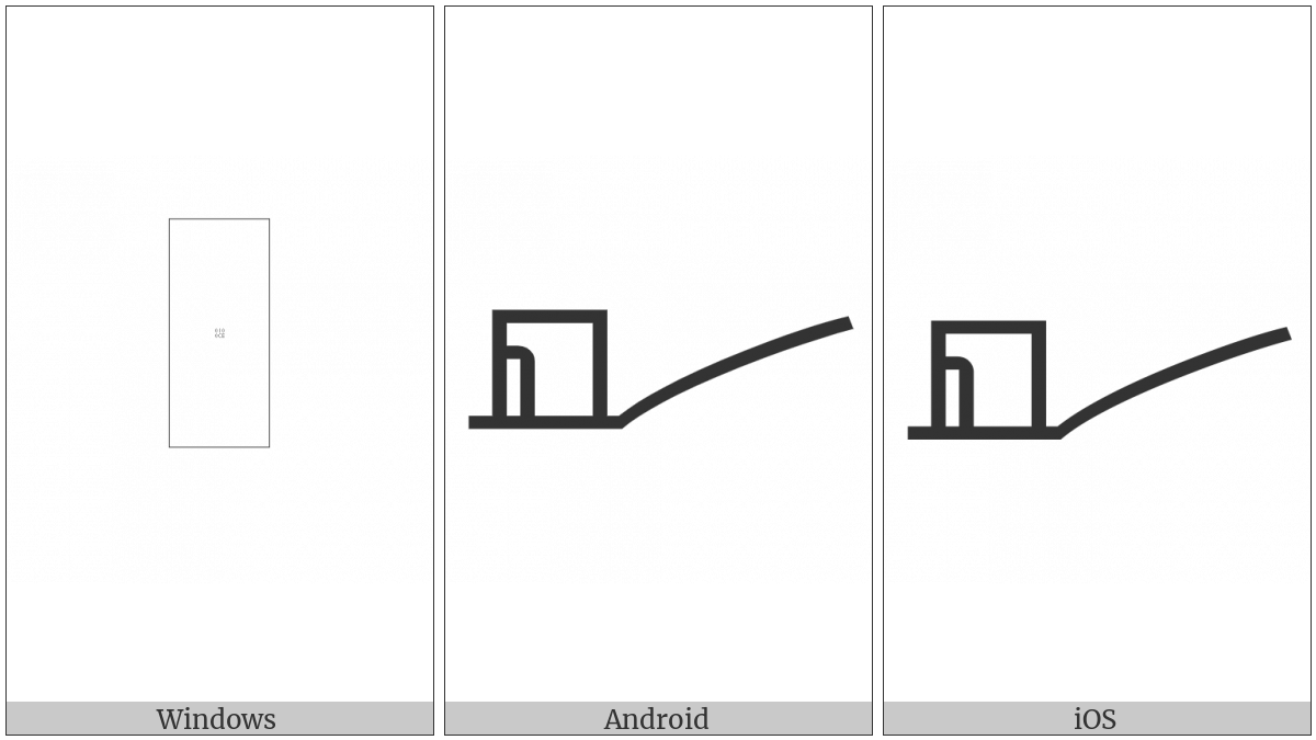 LINEAR B IDEOGRAM B242 CHARIOT FRAME utf-8 character