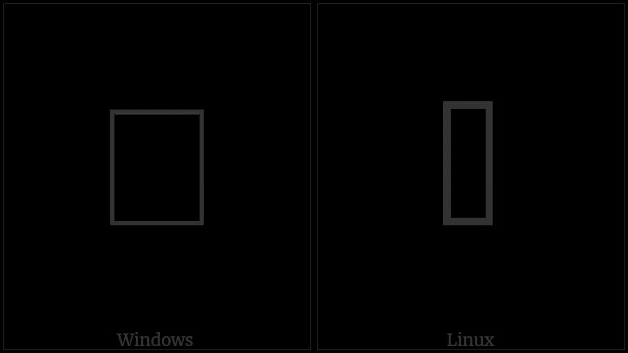 LINEAR B IDEOGRAM VESSEL B201 utf-8 character