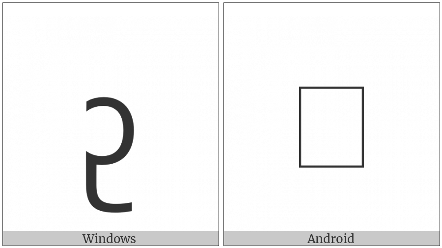 New Tai Lue Vowel Sign U on various operating systems