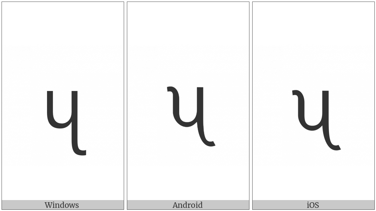 New Tai Lue Vowel Sign Uu on various operating systems