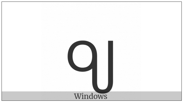 New Tai Lue Vowel Sign Oy on various operating systems