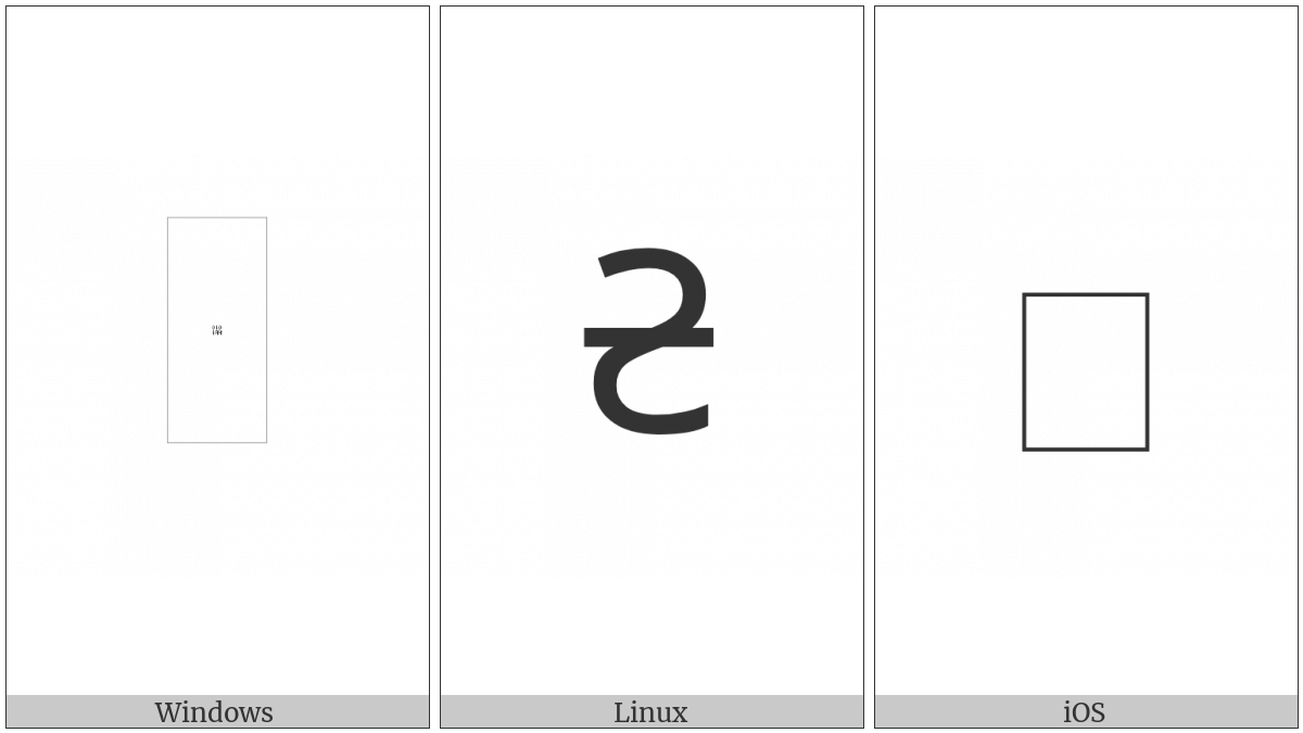 Roman Dimidia Sextula Sign on various operating systems