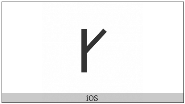 Lycian Letter G on various operating systems