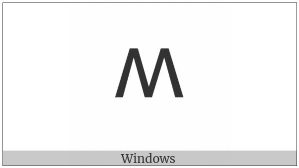 Lycian Letter M on various operating systems