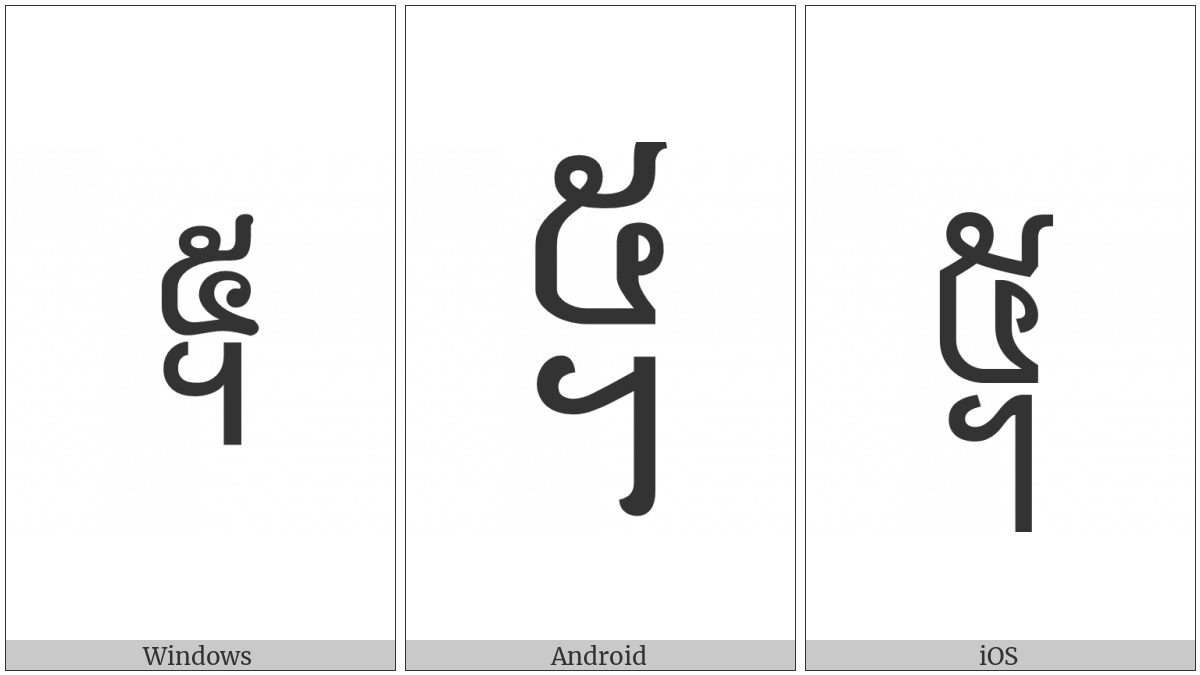 Khmer Symbol Pram Koet on various operating systems