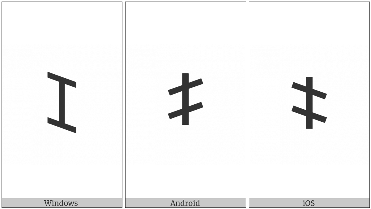 Old Italic Letter Ze on various operating systems