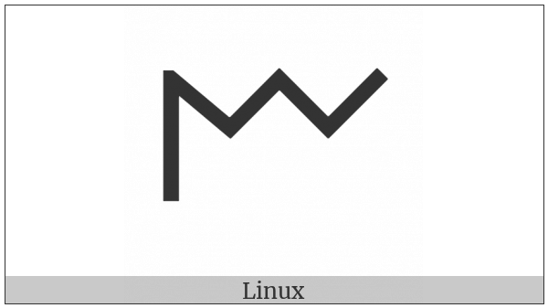 Old Italic Letter Em on various operating systems