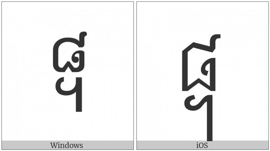 Khmer Symbol Pram-Bei Koet on various operating systems