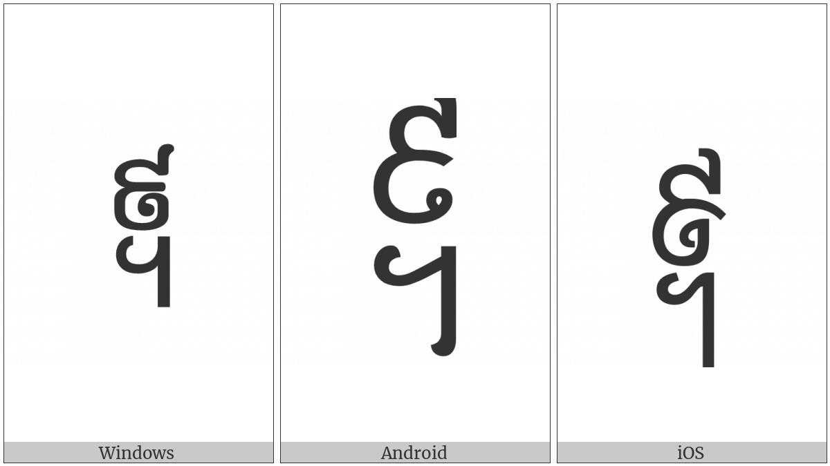 Khmer Symbol Pram-Buon Koet on various operating systems