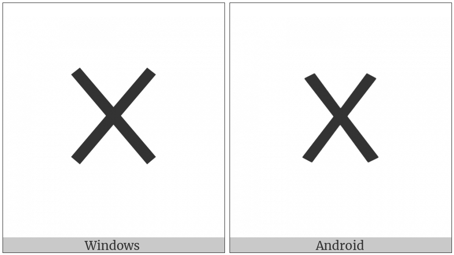 Old Italic Numeral Ten on various operating systems