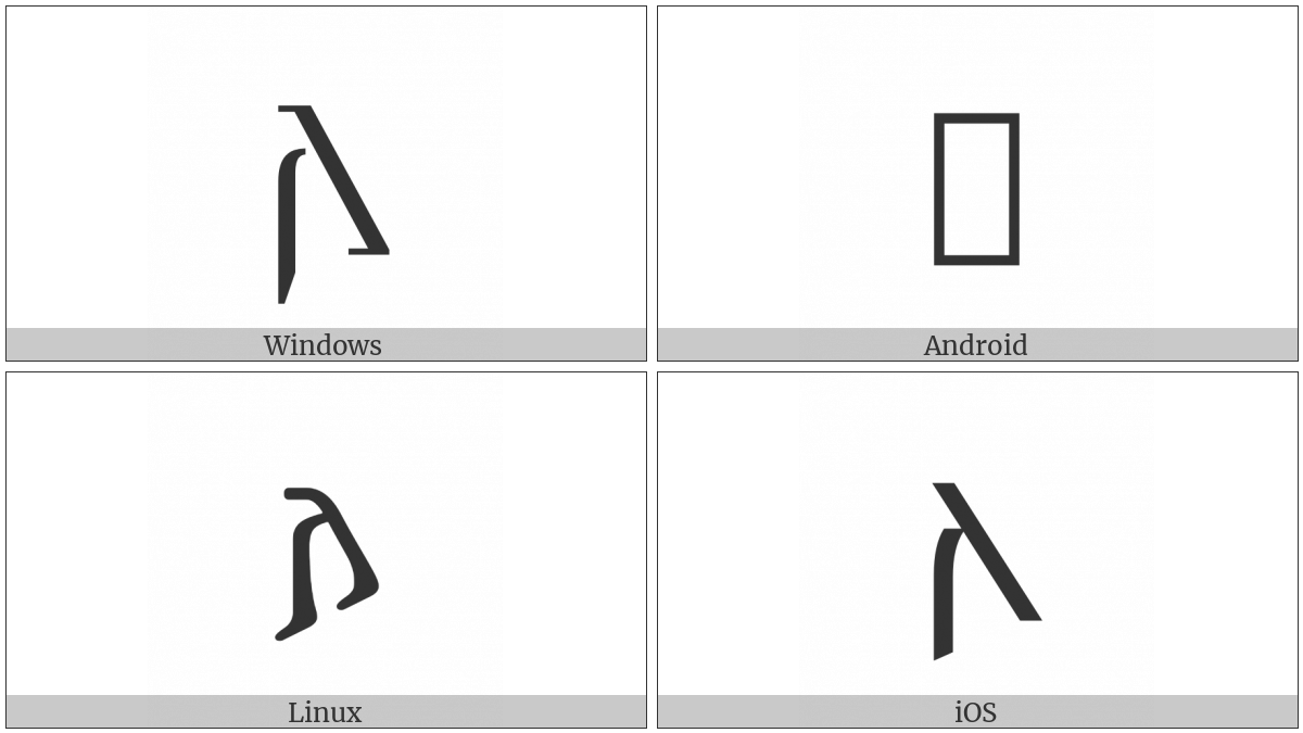Gothic Letter Ahsa on various operating systems