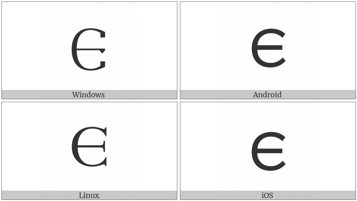 Gothic Letter Aihvus on various operating systems