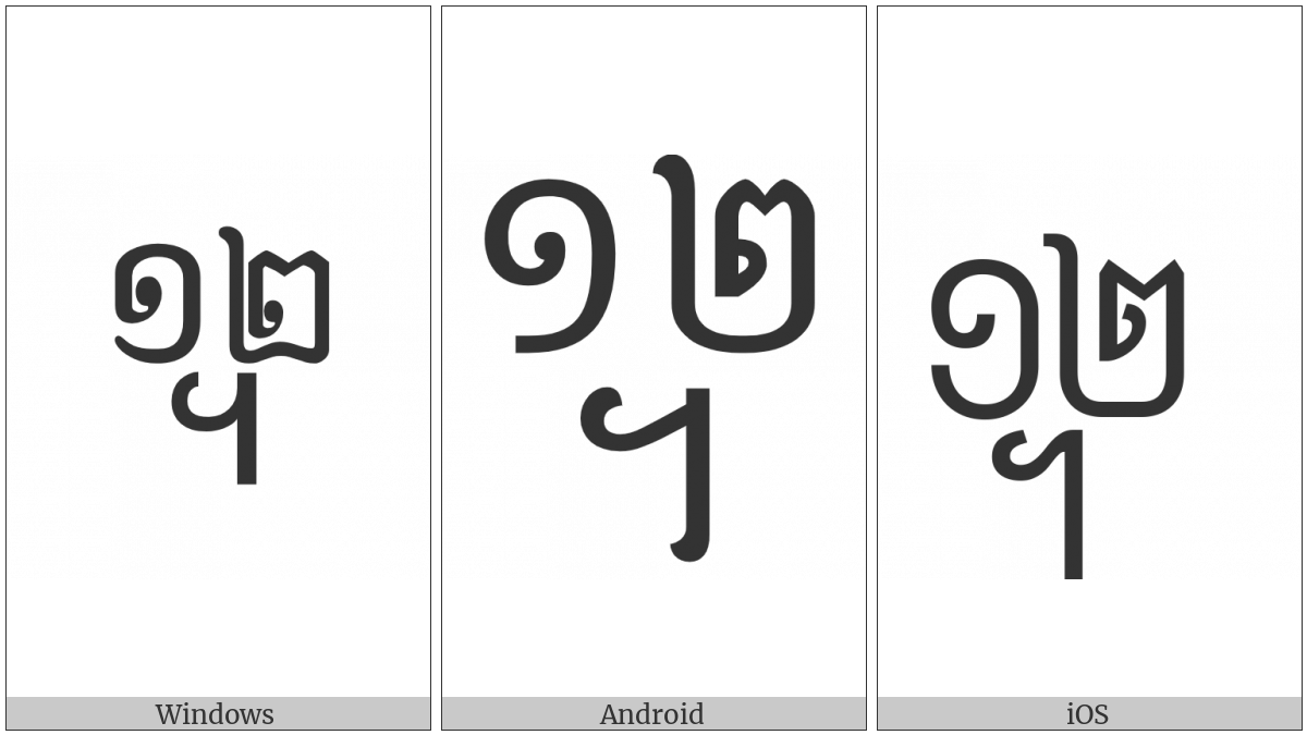 Khmer Symbol Dap-Pii Koet on various operating systems