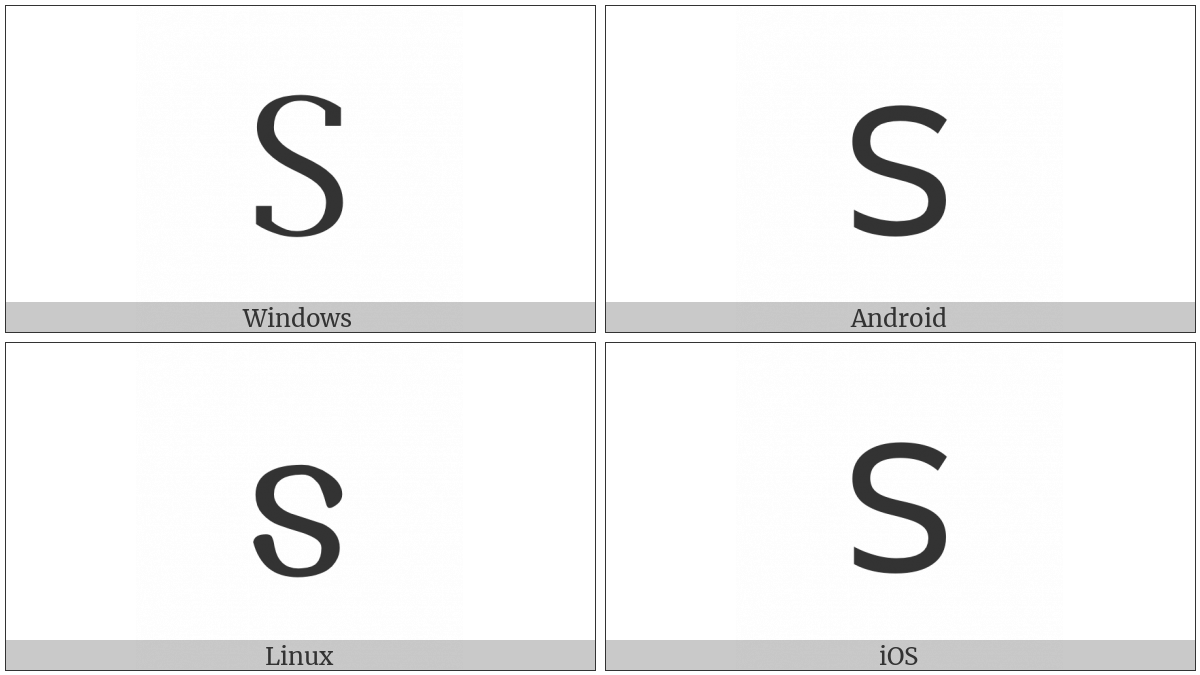 Gothic Letter Sauil on various operating systems
