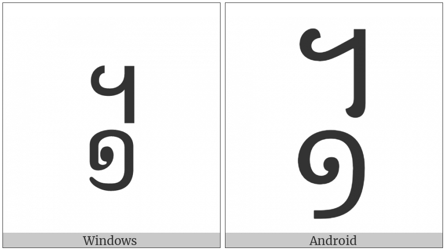 Khmer Symbol Muoy Roc on various operating systems