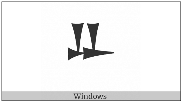 Ugaritic Letter Beta on various operating systems