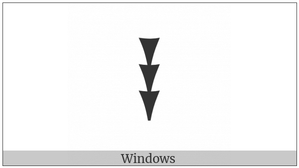 Ugaritic Letter Kha on various operating systems