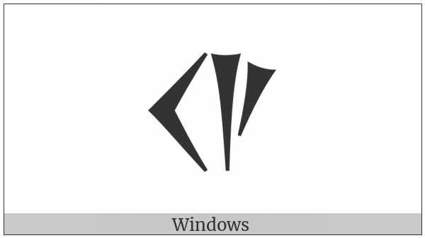 Ugaritic Letter Shin on various operating systems