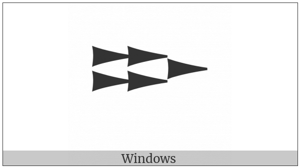 Ugaritic Letter Rasha on various operating systems