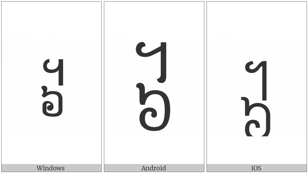 Khmer Symbol Pram-Muoy Roc on various operating systems